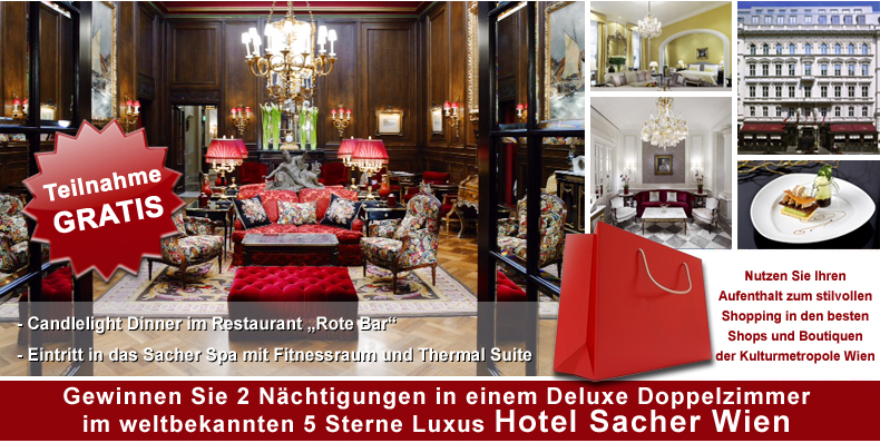 Hotel Sacher, Wien Gewinnspiel
