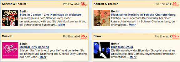 Musicals & Shows in Berlin