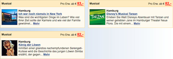 Musicals & Shows in Hamburg