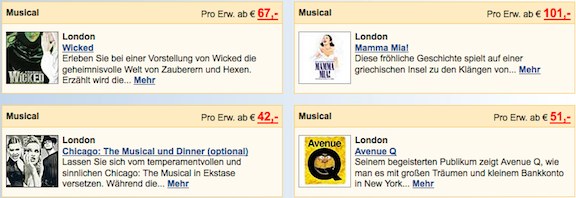 Musicals & Shows in London