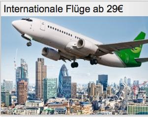 Internationale Flüge ab 29€
