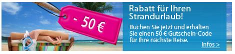 Strandurlaub mit Rabatt