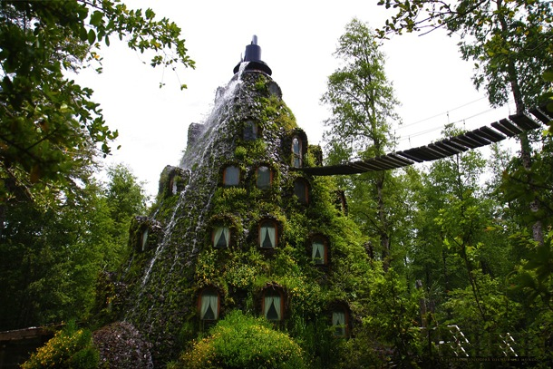 The Magic Mountain Lodge in Huilo Huilo, Chile